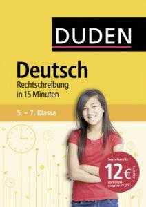 Cover Duden Deutsch Rechtschreibung in 15 Min