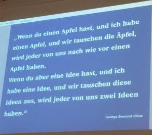 Denkste nach der #denkst17 - www.expatmamas.de - Zitat George Bernhard Shaw